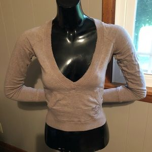 ABERCROMBIE cropped long sleeve shirt Small